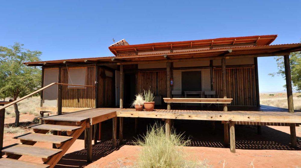 Extérieur d'un lodge à Namib