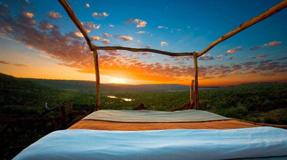 Un coucher de soleil exceptionnel au Kenya