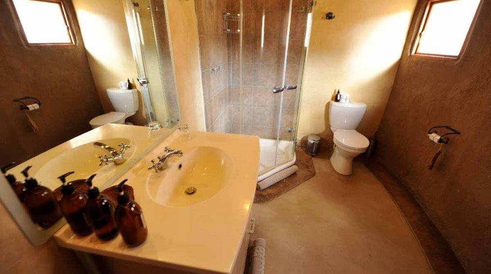 La salle de bains dans le Damaraland