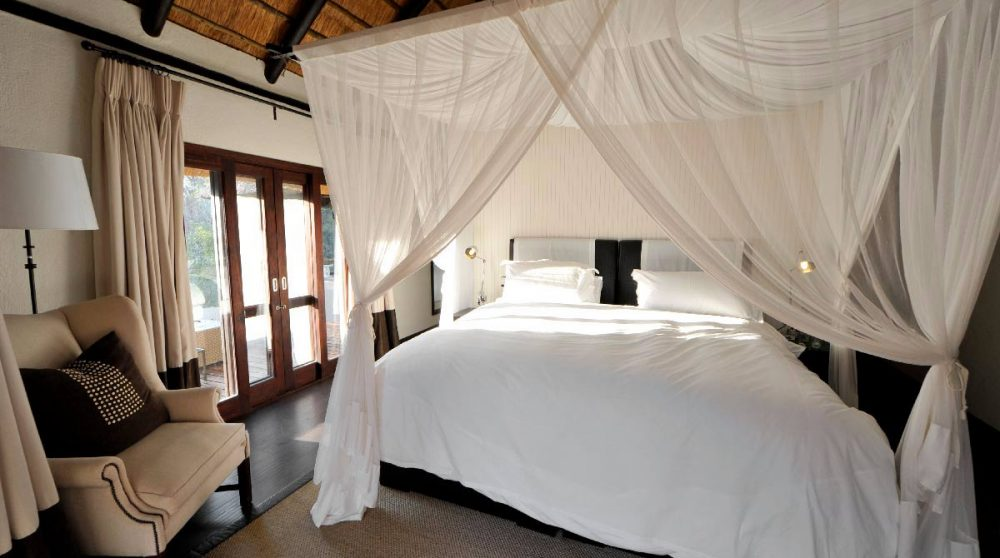 Le lit d'une chambre en Afrique du Sud