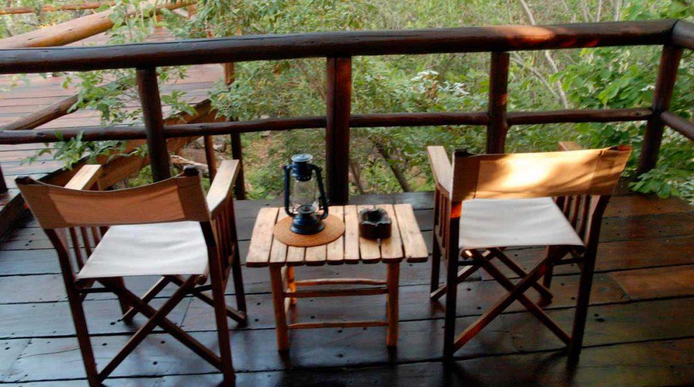 Vue sur la nature depuis la terrasse près du Welgevonden Private Game Reserve