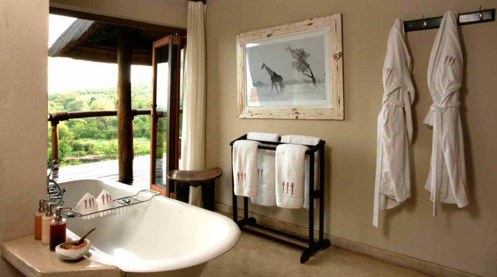 Autre vue de la salle de bains près du Madikwe Game Reserve