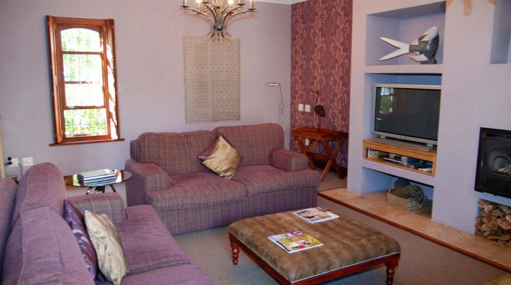 Salon dans une suite à Franschhoek