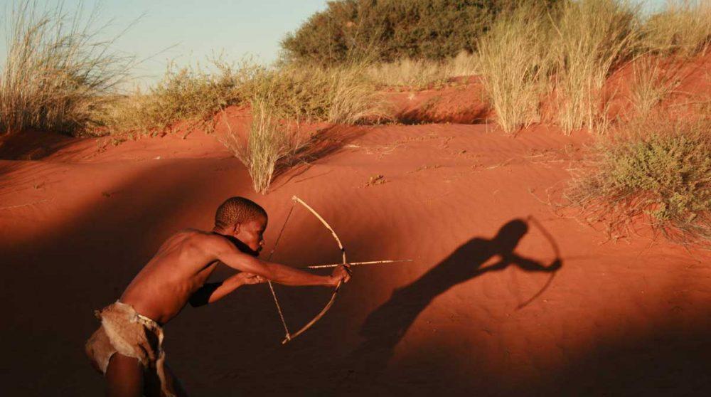 Un bushman en train de chasser