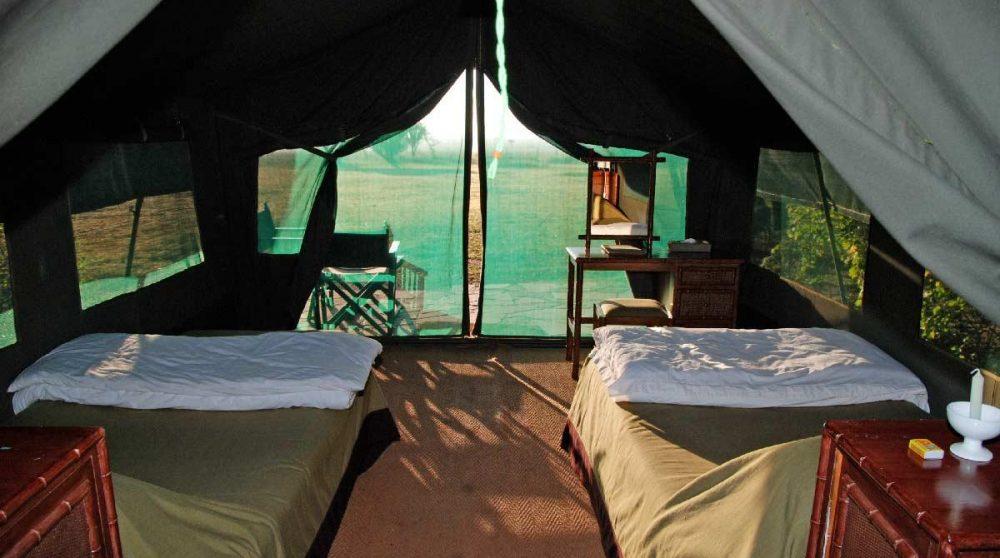 Lits dans une tente luxury au Kenya