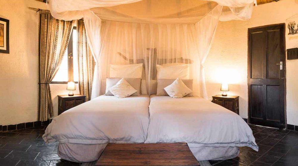 L'intérieur de la chambre en Afrique du Sud