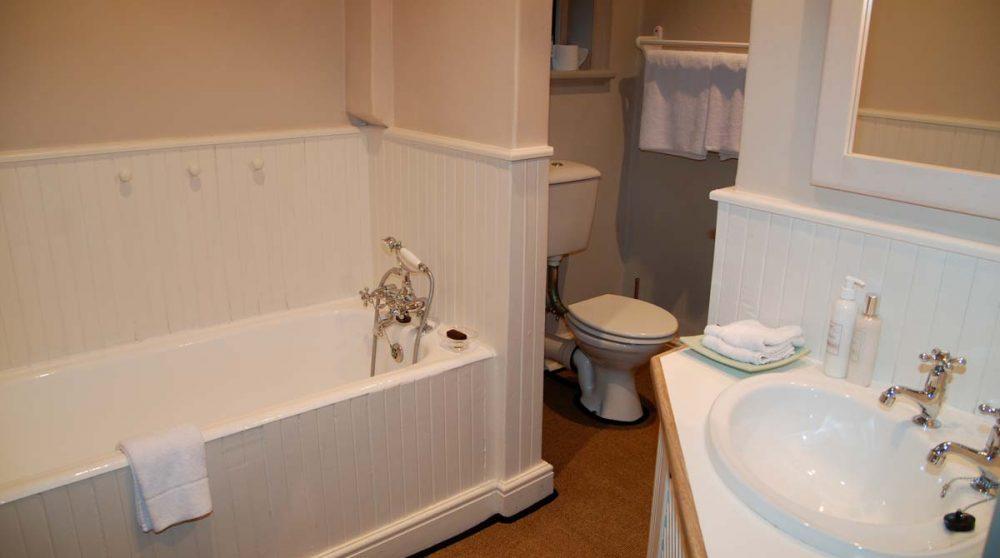 Salle de bains avec une baignoire