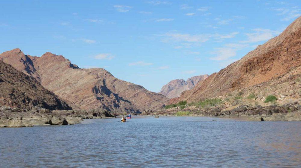 En canoé sur la rivière Orange
