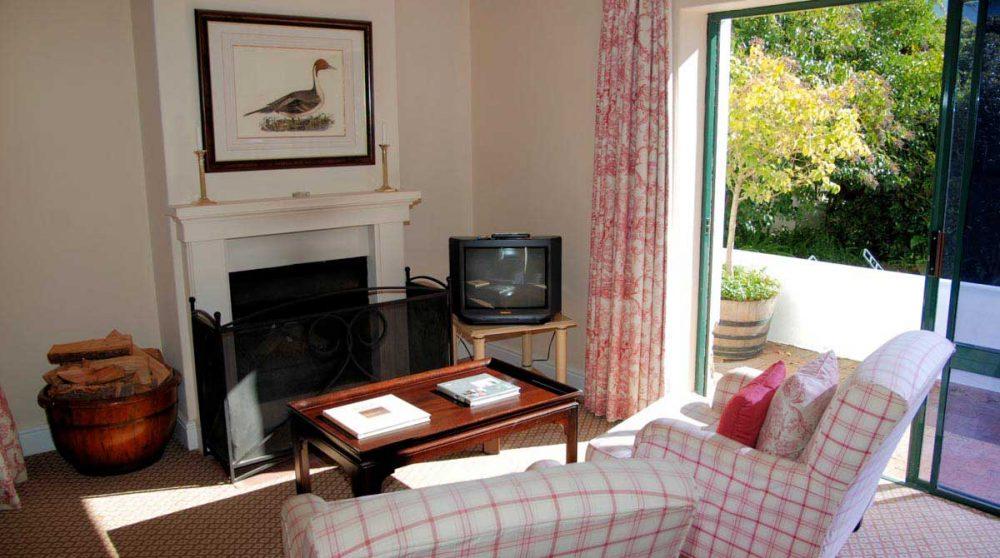 Salon dans une suite manor