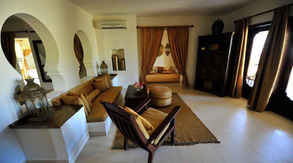 Le salon d'une villa