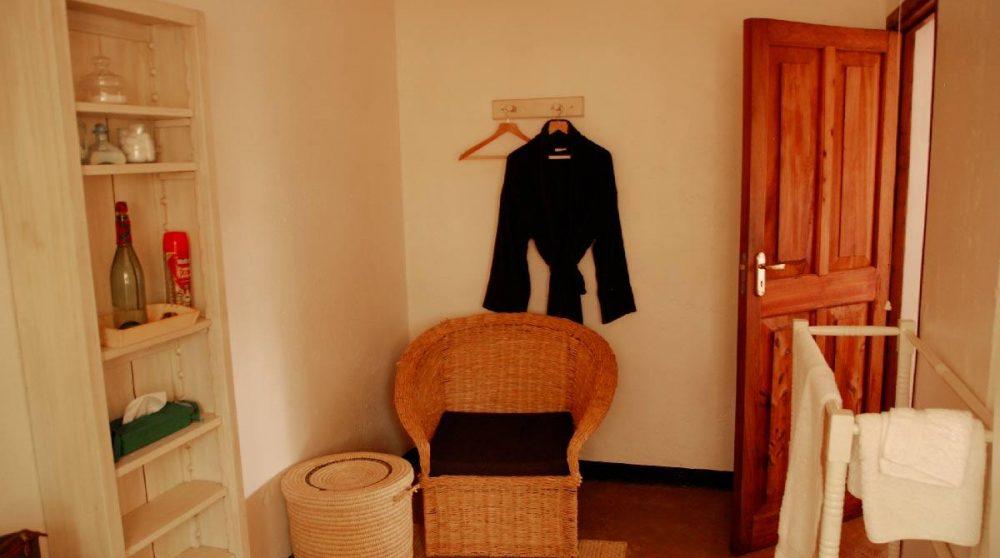 L'entrée d'une chambre