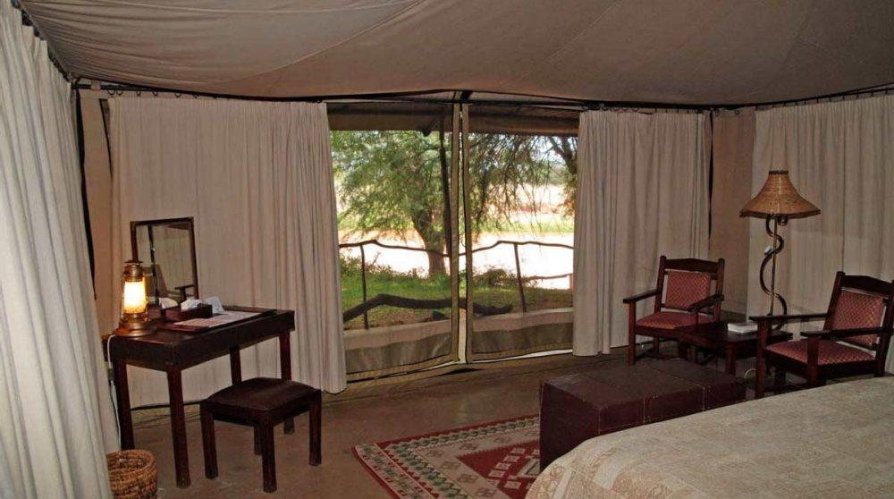 Une tente au Larsens Tented Camp