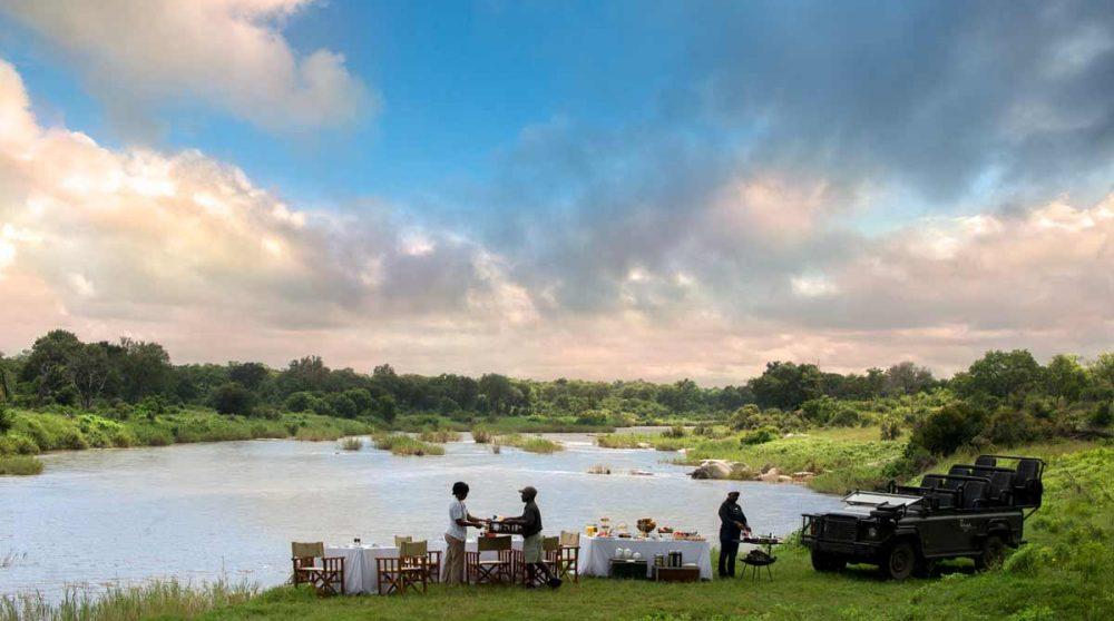 Pause café de luxe lors du safari du matin