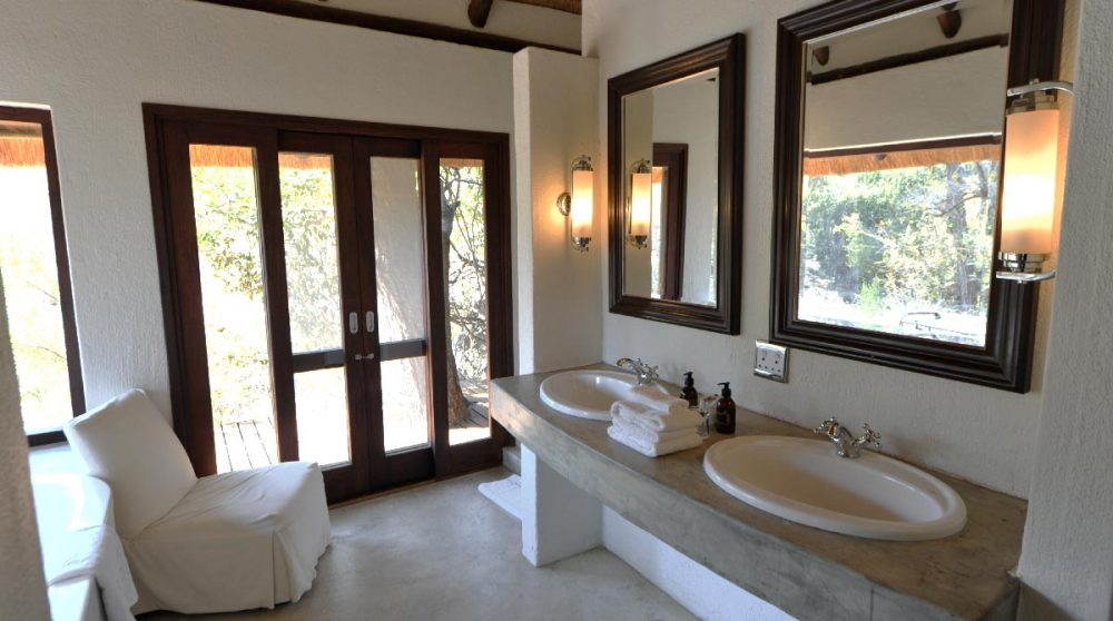 La salle de bains du Londolozi Tree Camp