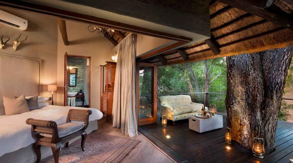L'une des chambres de la Family Suite au Ngala Safari Lodge