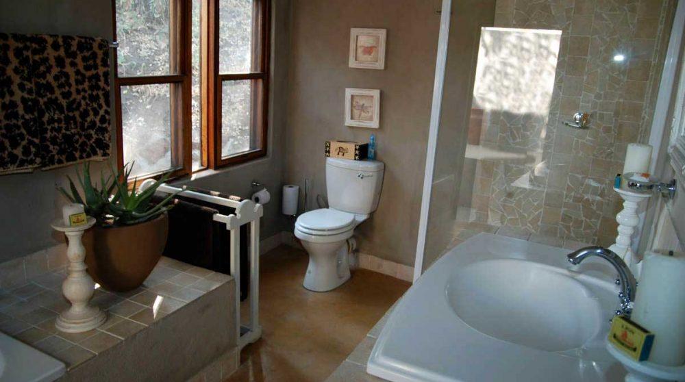 La salle de bains d'un chalet au Notten's