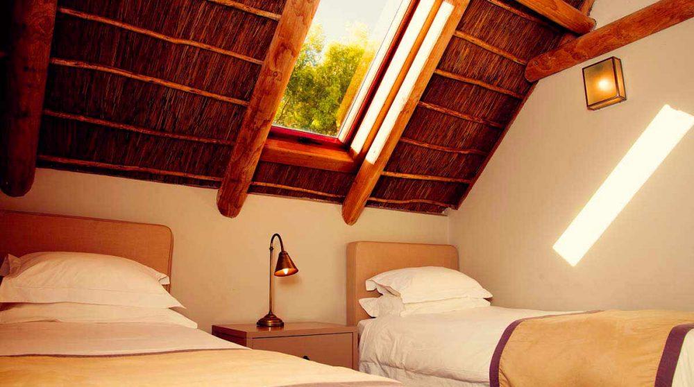 Chambre avec lits simples en Afrique du Sud
