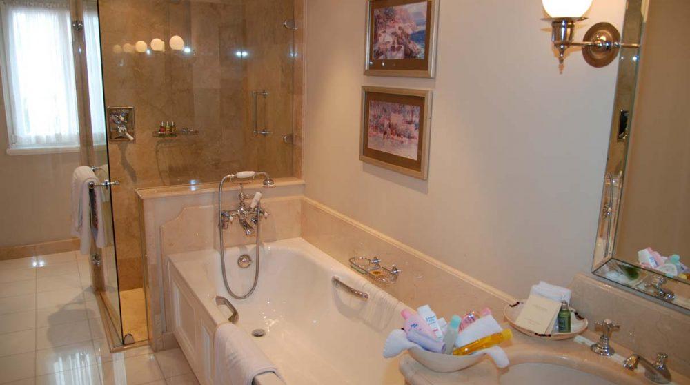 Salle de bains dans une luxury room en Afrique du Sud