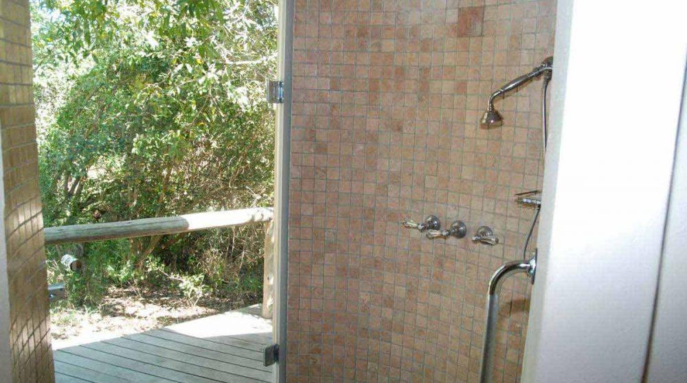 La douche à Manyeleti