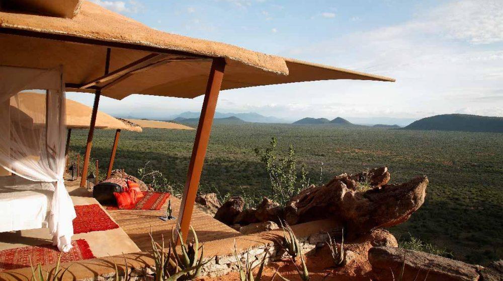 Vue depuis une chambre au Kenya