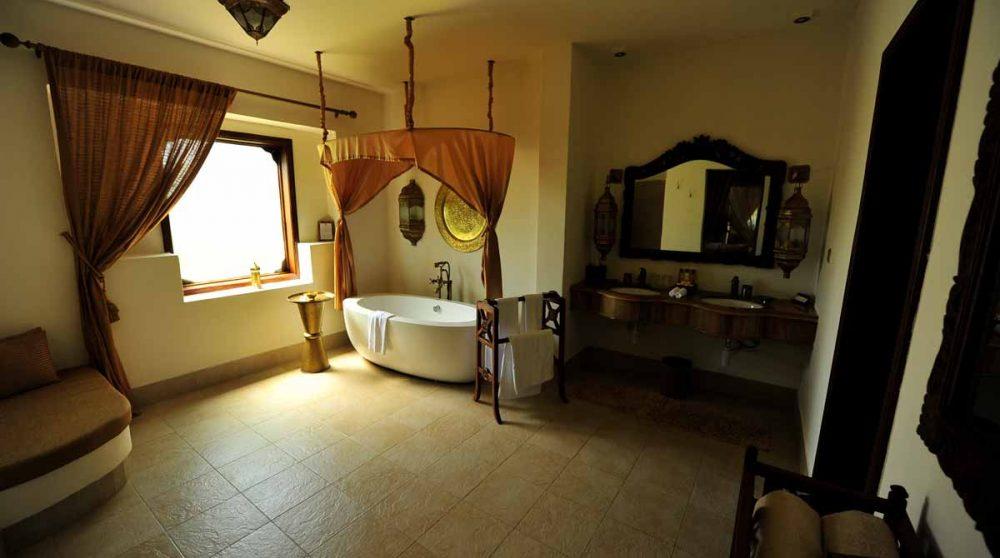 La salle de bains à Zanzibar