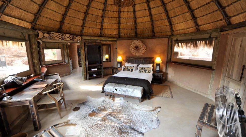 Vue d'une chambre en Namibie