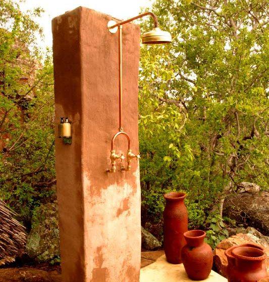 Douche extérieure en Afrique du Sud