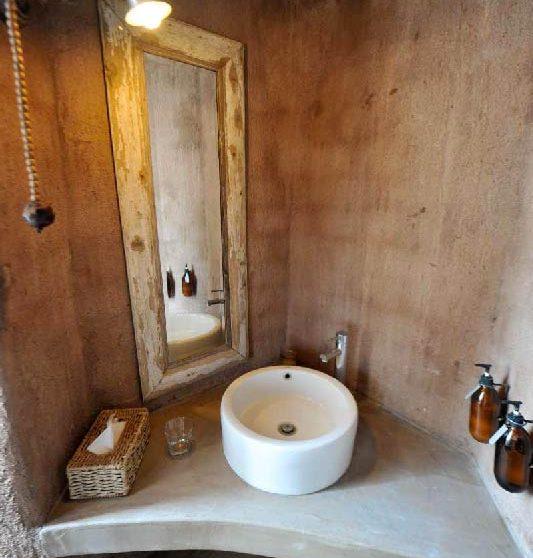 La salle de bains en Namibie