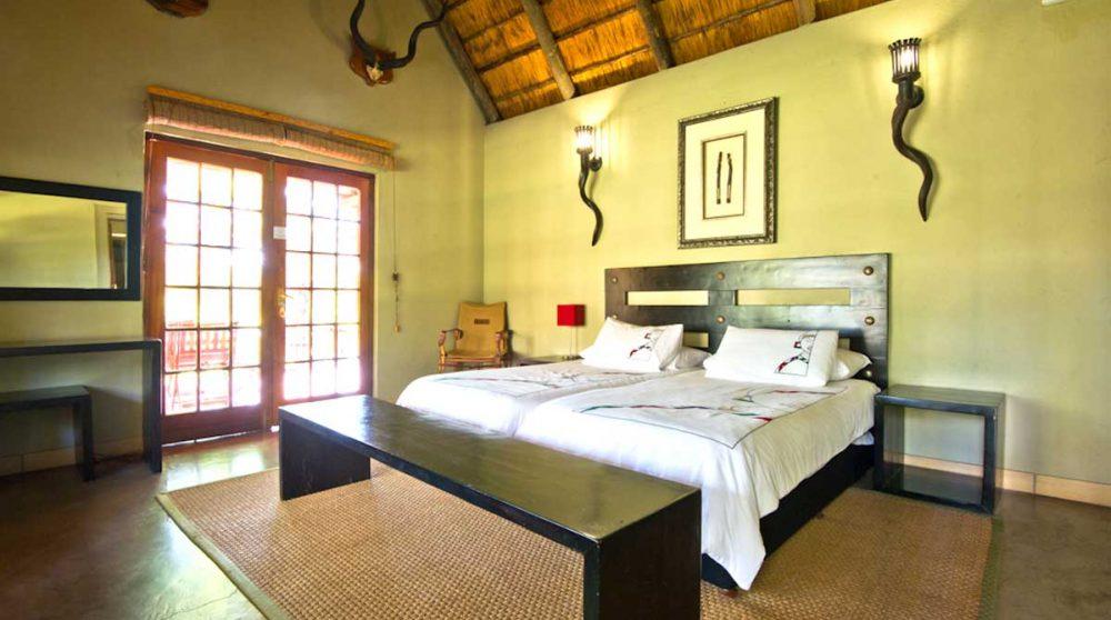 Une des chambres à Indlovu River Lodge