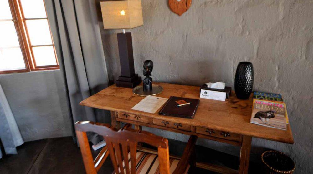 Bureau dans une chambre à Timbavati