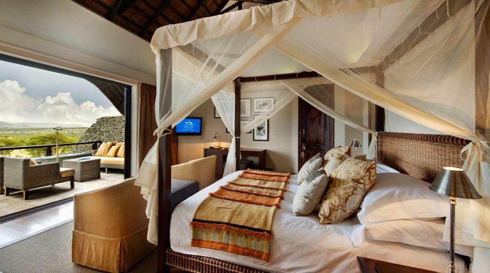 Vue depuis la chambre au Four Seasons Safari Lodge