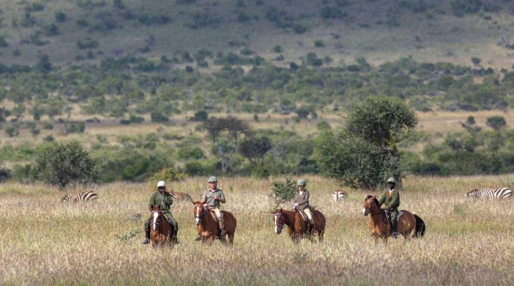 Promenade à cheval au Kenya