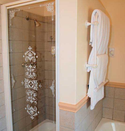 La douche d'une chambre luxyry