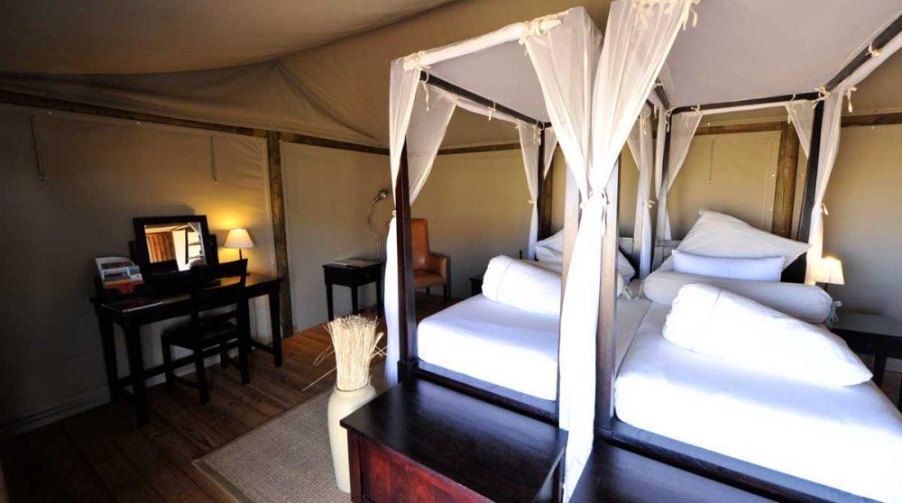 Autre vue de la chambre à Namib