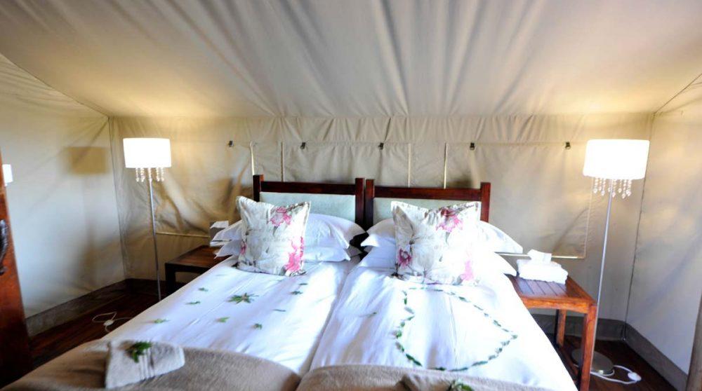 Vue sur les lits en Afrique du Sud
