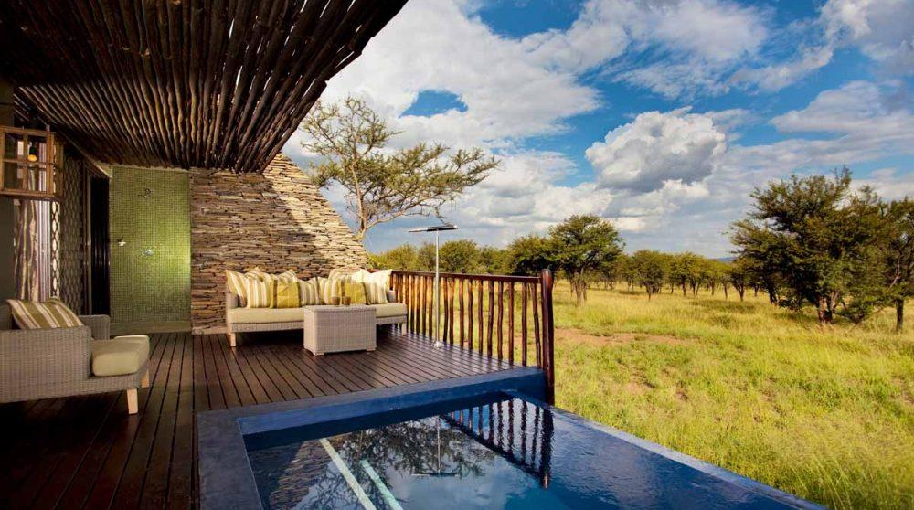 Une suite du lodge dans le parc du Serengeti