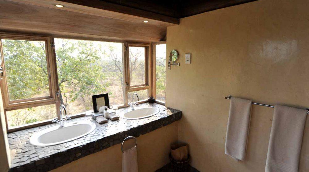 La vue depuis la salle de bains