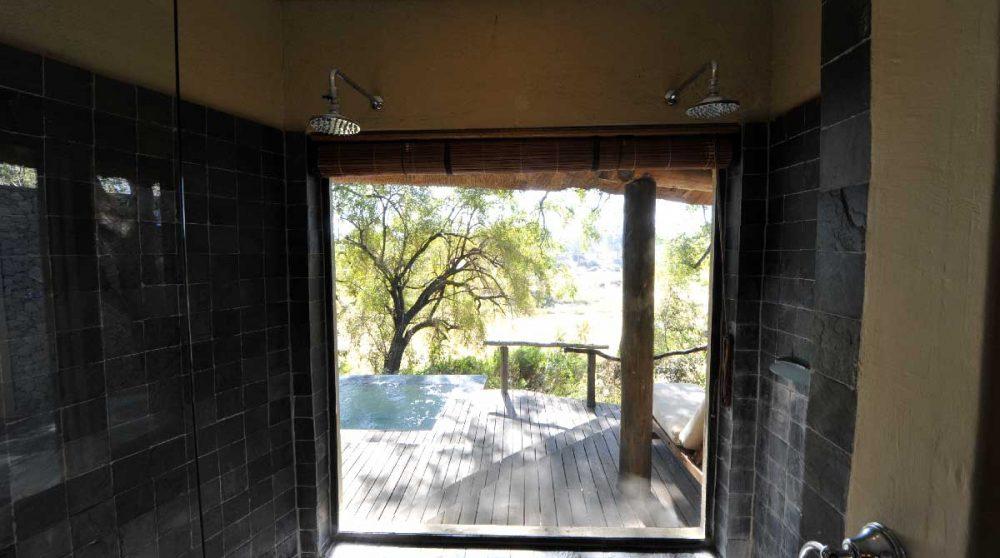 Vue depuis une douche du Exeter River Lodge