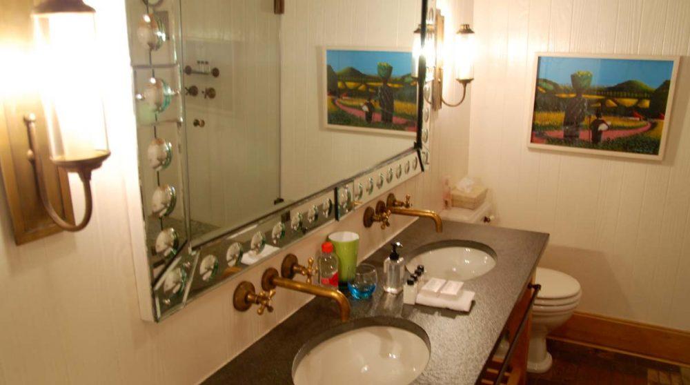 Salle de bains de la chambre zulu du Hout Bay Manor