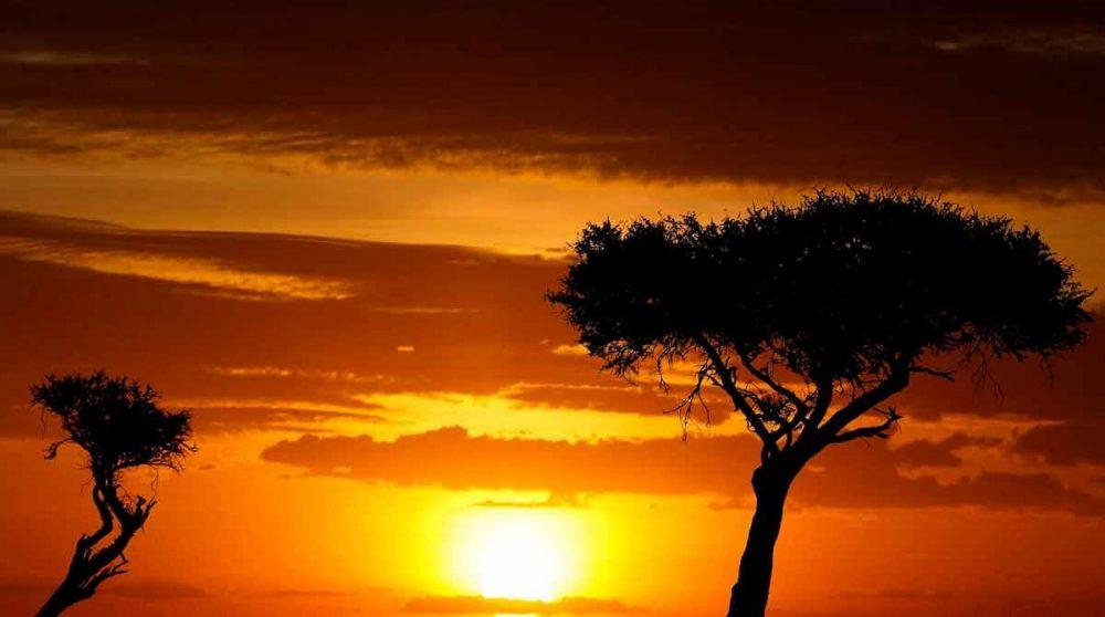 Coucher de soleil au Mara Porini Camp