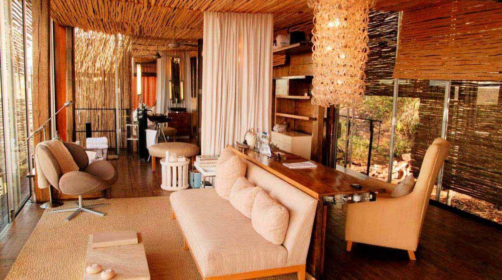 Vue d'ensemble d'une chambre au Singita Lelombo