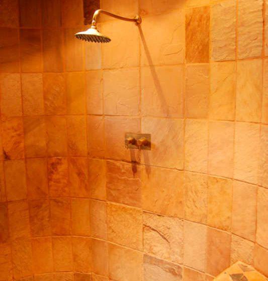 La douche à Tswalu