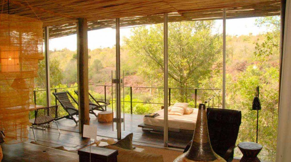 La vue depuis une suite de l'hôtel en Afrique du Sud