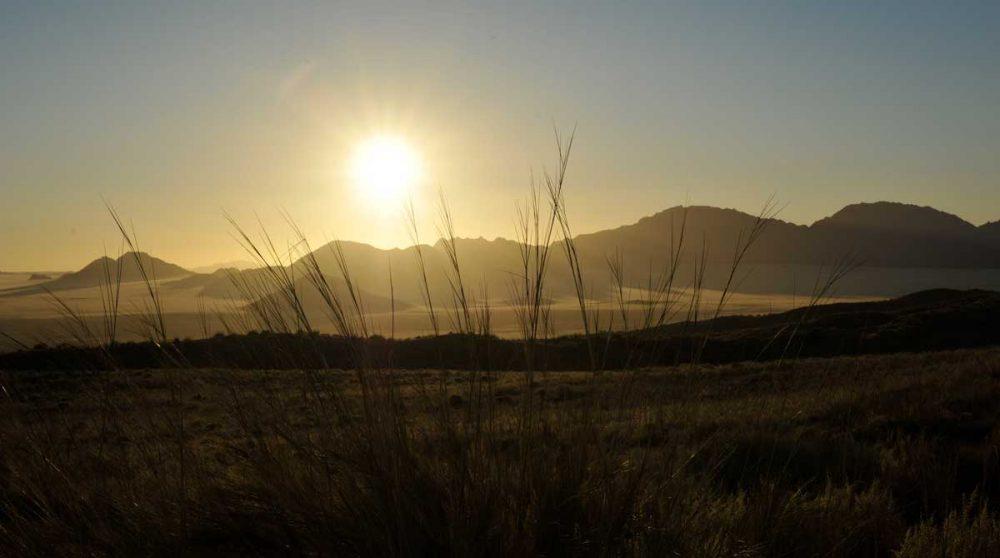 Coucher de soleil au Wolwedans Dunes Lodge