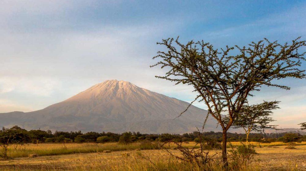 Le Mont Meru à Arusha