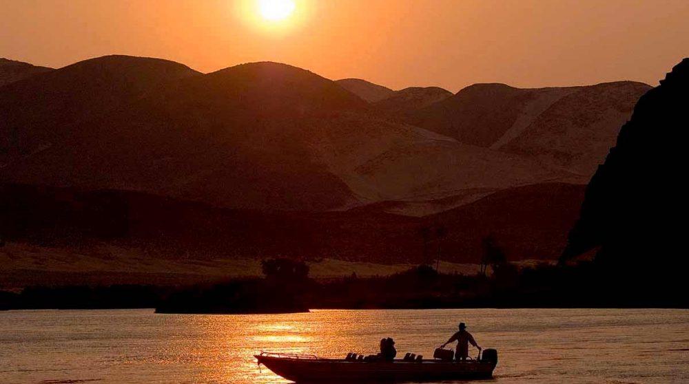 Un coucher de soleil en Namibie