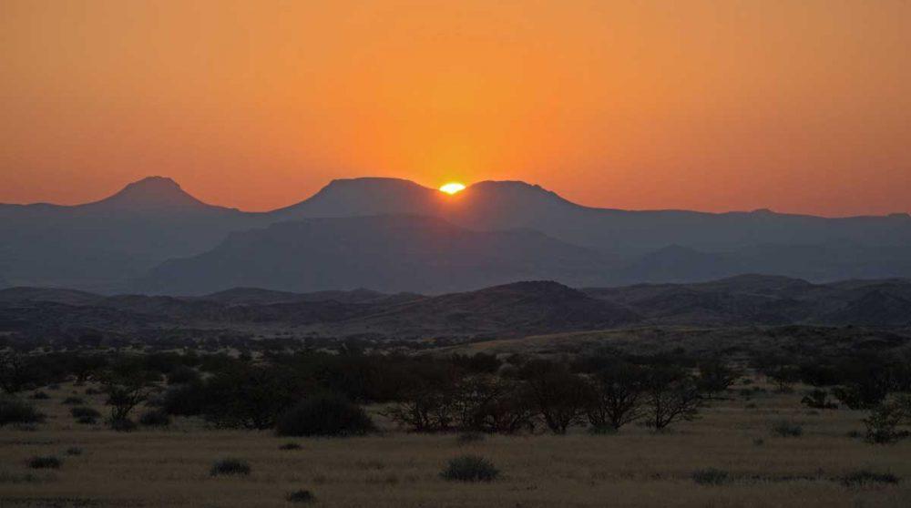 Le Damaraland au coucher du soleil