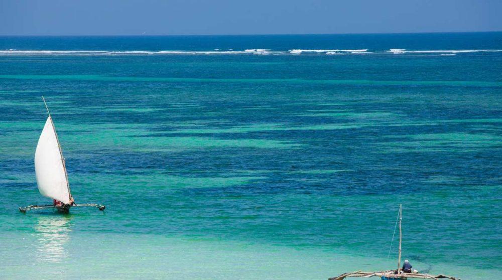 La plage de Diani à Mombasa