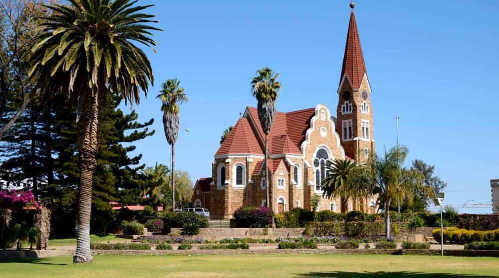 L'église dans la ville de Windhoek