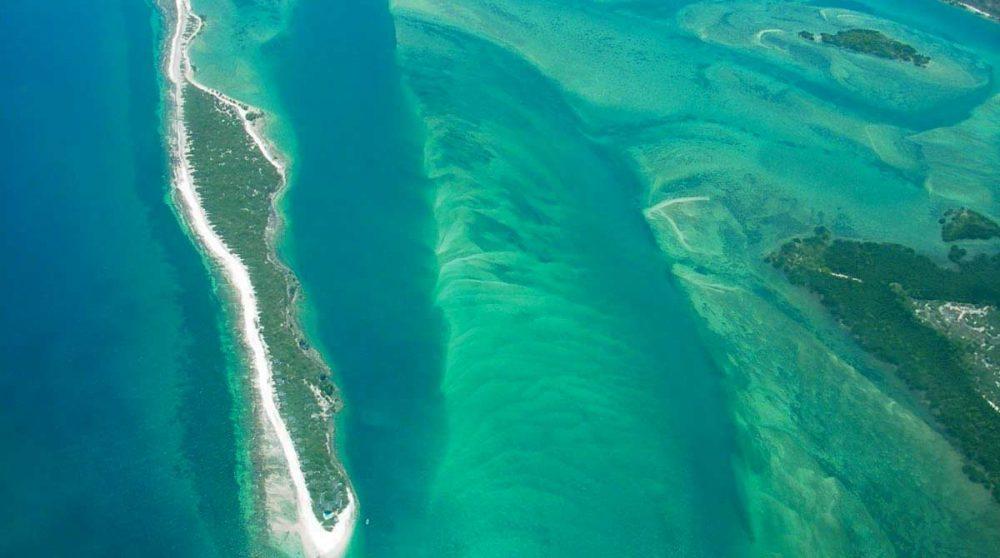 Une vue aérienne du lagoon